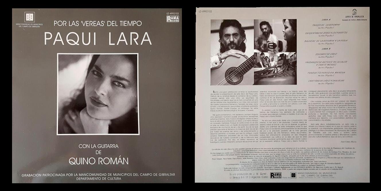 """""""Por las vereas del tiempo"""" LP de Paqui Lara"""