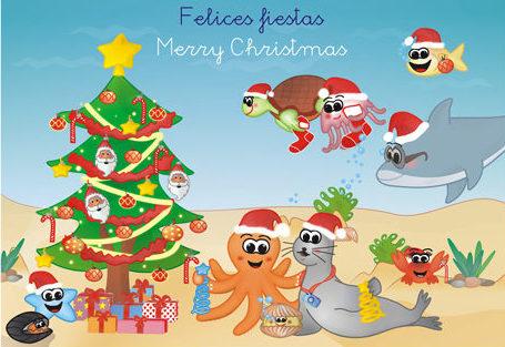 Felicitación navideña Tintas