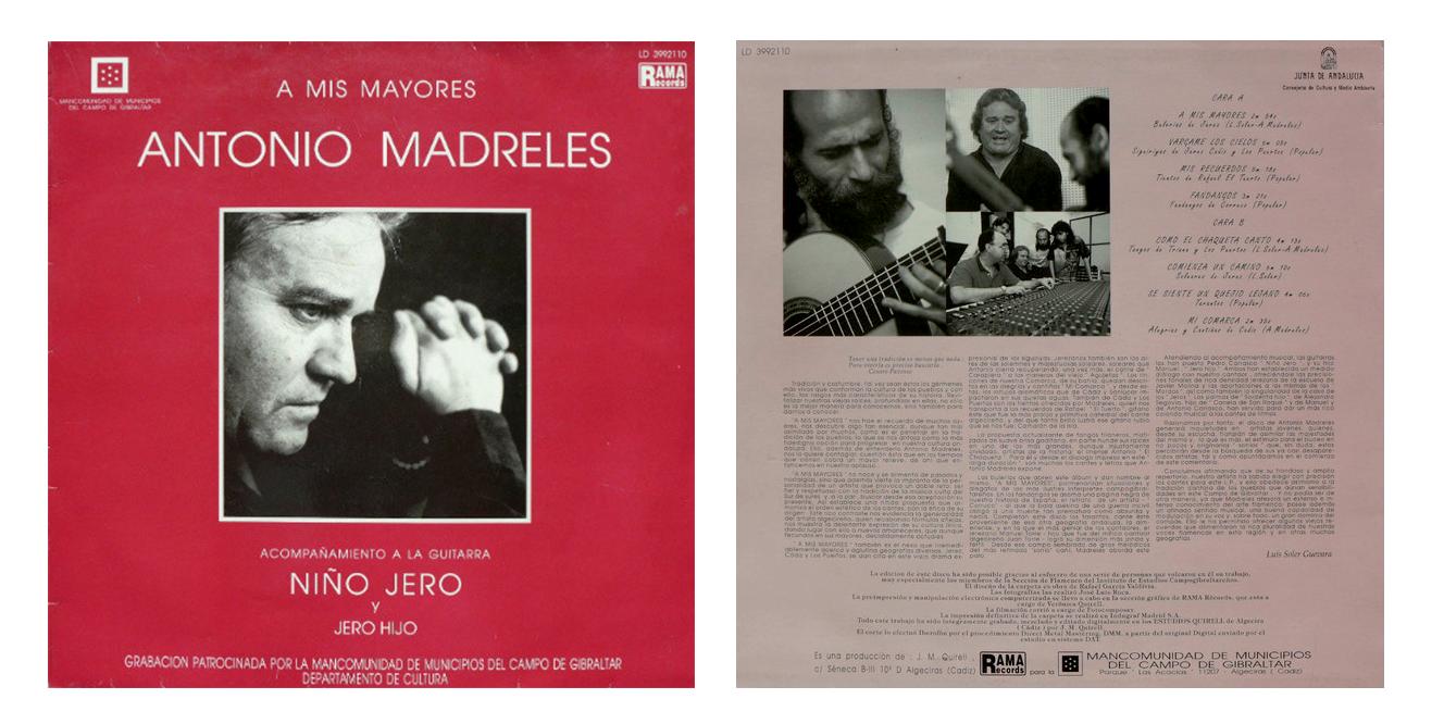 """""""A mis mayores"""" LP de Antonio Madreles"""