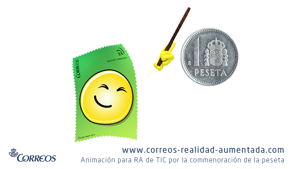 TIC muestra una moneda de 1 peseta