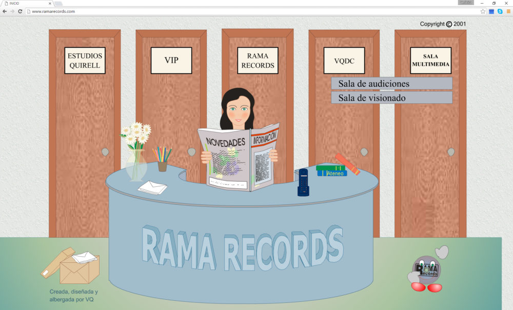 Web interactiva para Rama Records