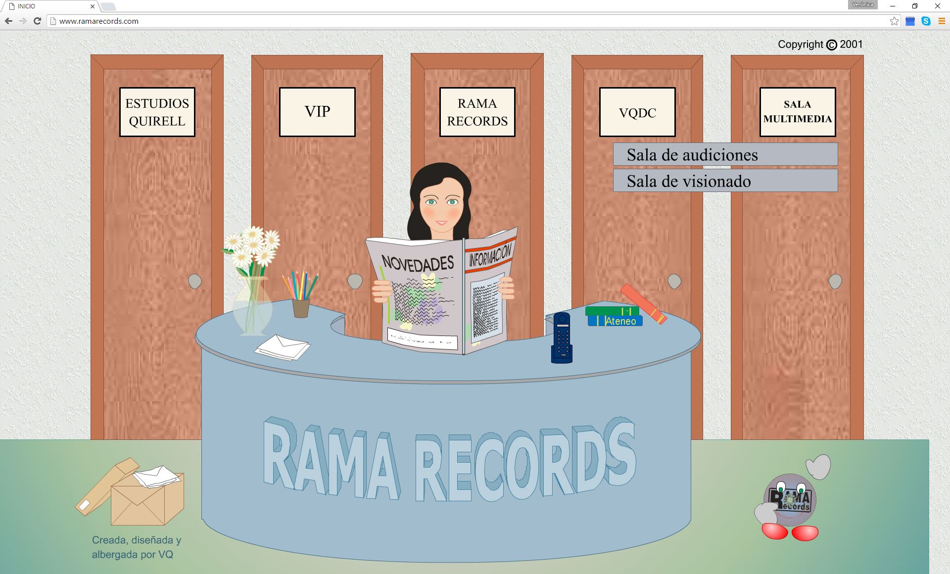 Pagina web interactiva para Rama Records