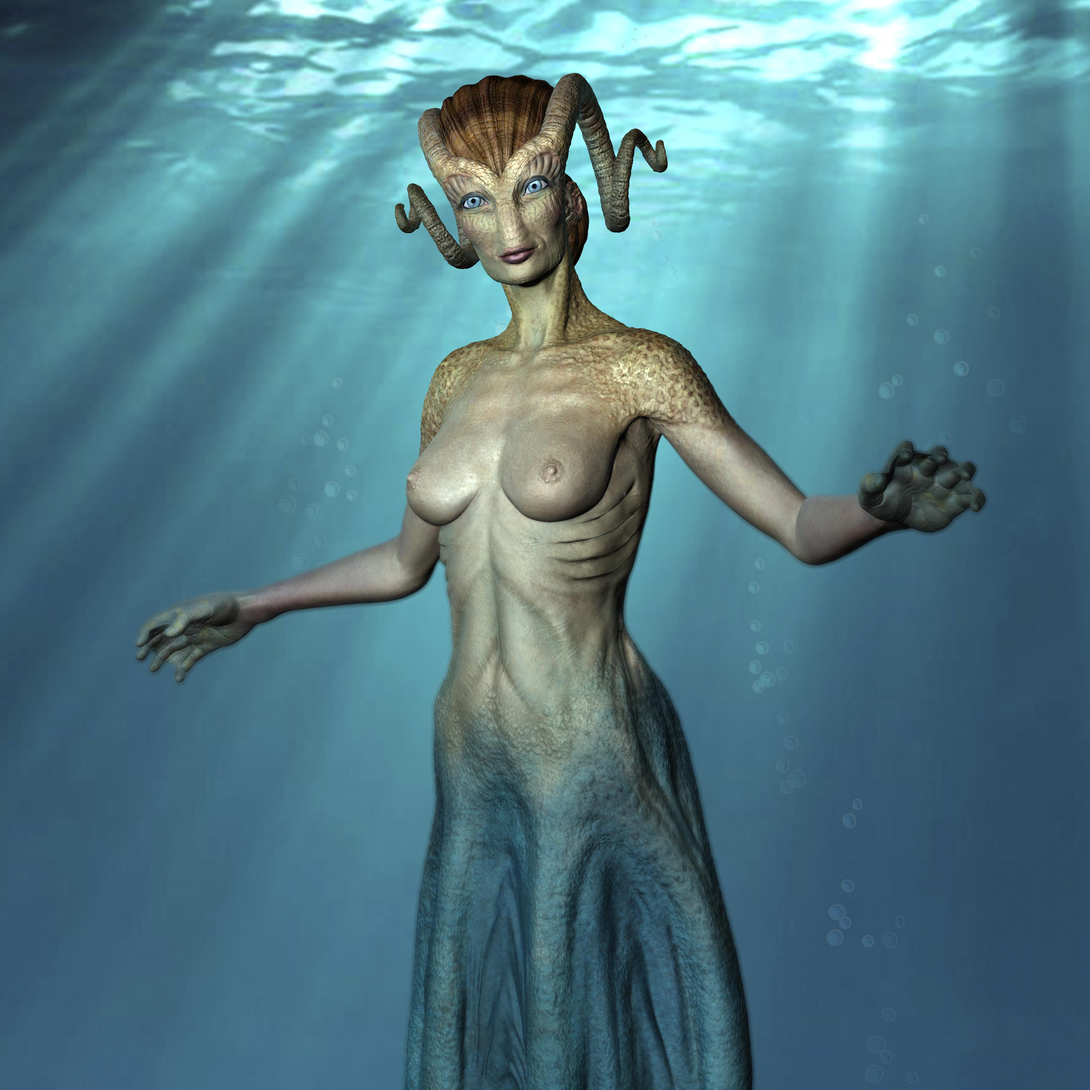modelado 3D de Criatura Cecaelia.