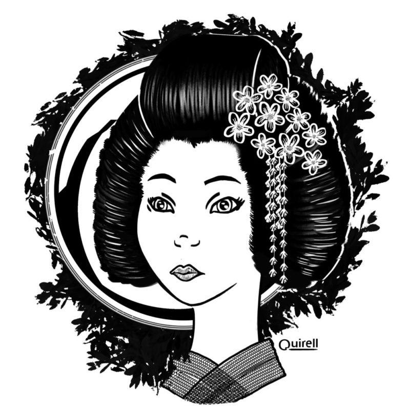 Geisha en una tinta