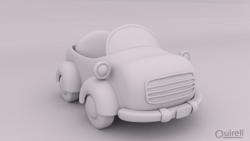modelado 3D coche cartoon