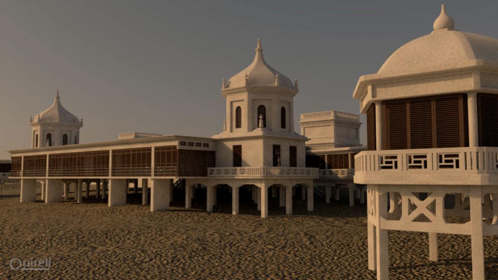 Modelado 3D Balneario real de Cádiz