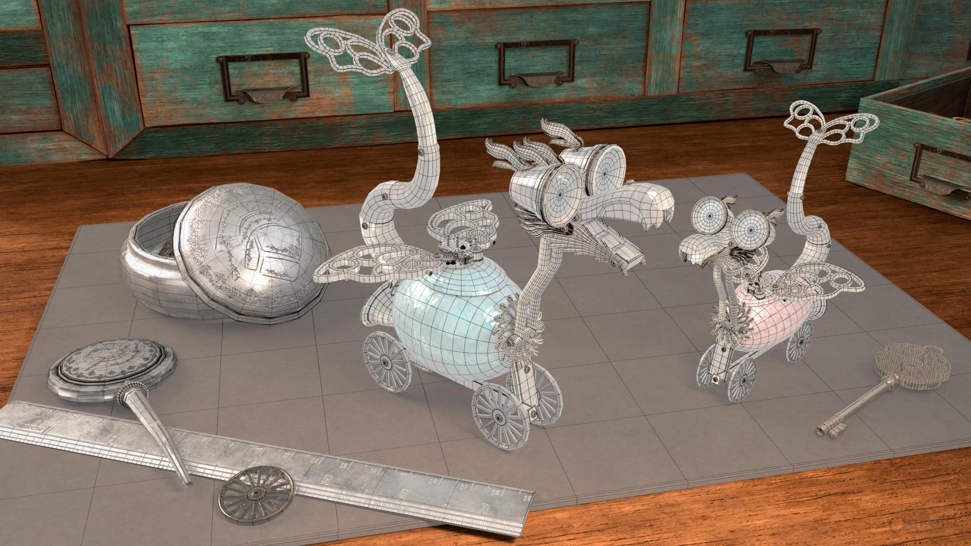 wire escenario de dragones de relojero