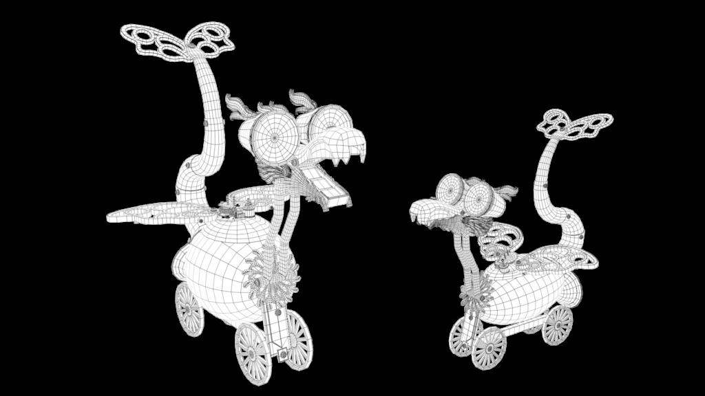 wire dragones de relojero