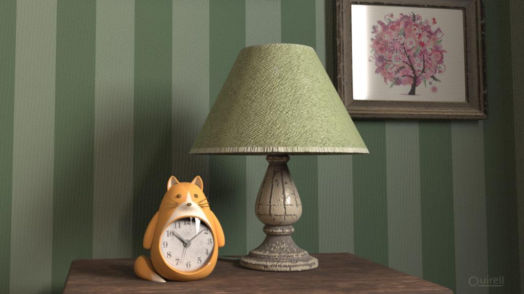 Detalle reloj despertador